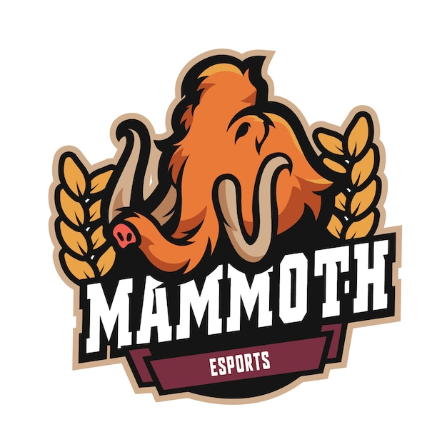 Logo mammoth e sports Vecteur Premium