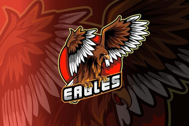 Logo De Mascotte D'aigle Pour Le Jeu De Sport électronique Vecteur Premium