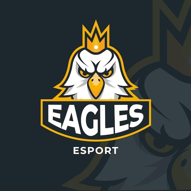 Logo Mascotte Avec Aigle Vecteur Premium