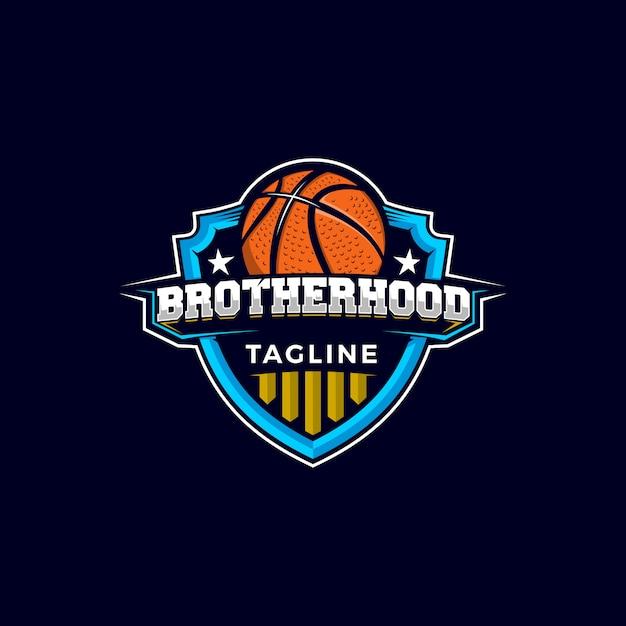 Logo De Mascotte Basketball Vecteur Premium