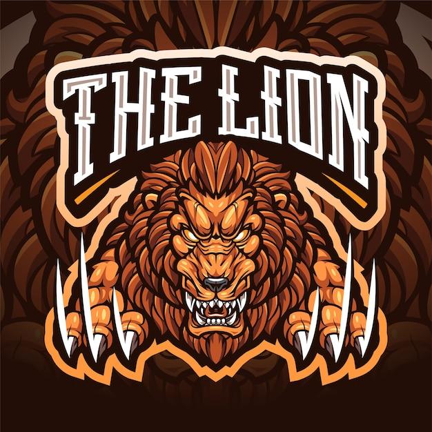 Le Logo De La Mascotte Du Lion Esport Vecteur Premium
