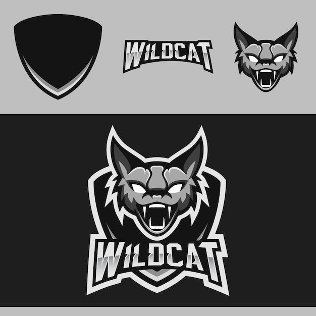 Logo de la mascotte de l'équipe wildcat team Vecteur Premium