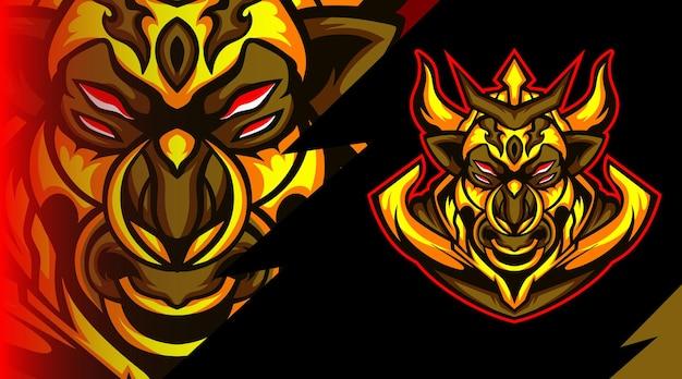Logo De La Mascotte Des Monstres De Byson Vecteur Premium
