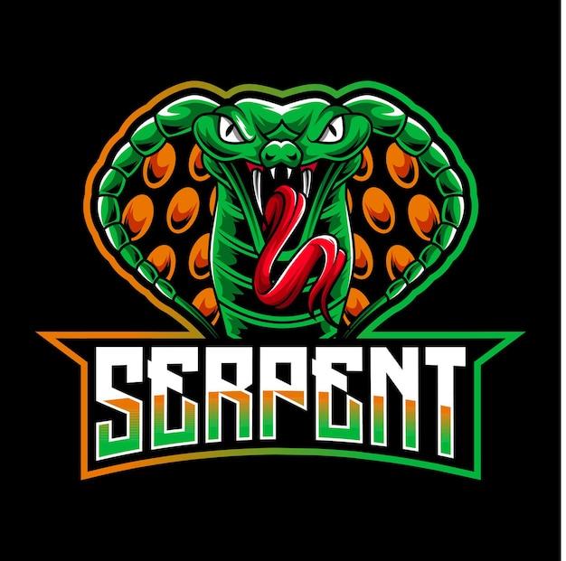 Logo De La Mascotte Serpent Cobra Vecteur Premium
