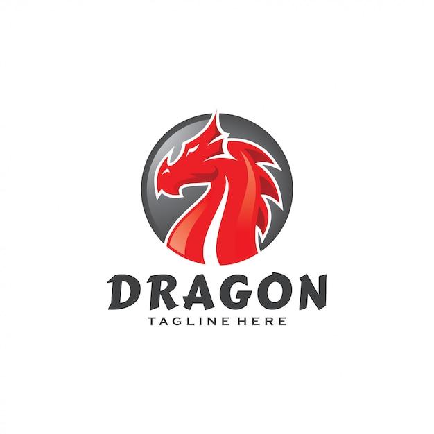 Logo Mascotte Serpent Dragon Monster Vecteur Premium