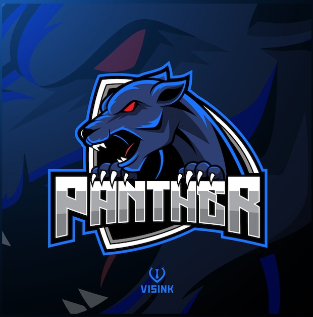 Logo mascotte sport dragon Vecteur Premium