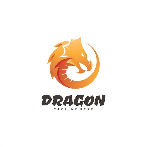 Logo Mascotte Tête De Serpent Dragon Vecteur Premium