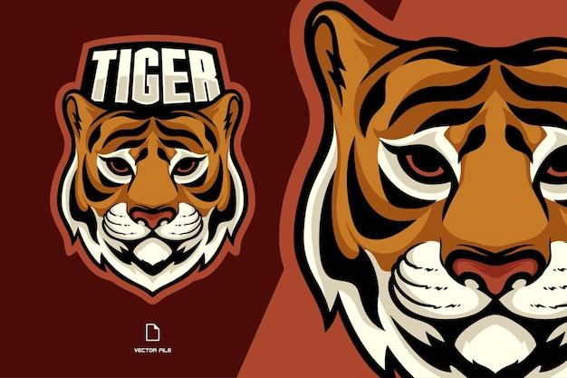 Logo De Mascotte Tête De Tigre Vecteur Premium