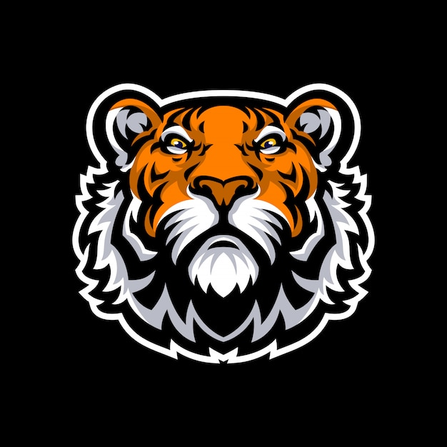 Logo mascotte tigre sport. Vecteur Premium