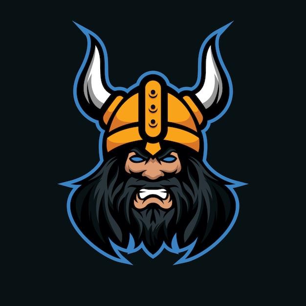 Logo Mascotte Viking Pour Le Jeu Et L'équipe De Sport Vecteur Premium