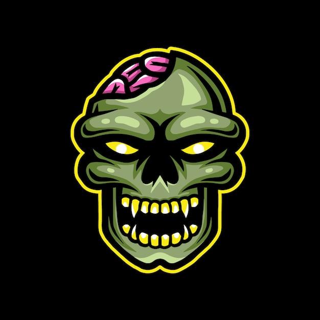 Logo De La Mascotte Zombie Esport Gaming Vecteur Premium