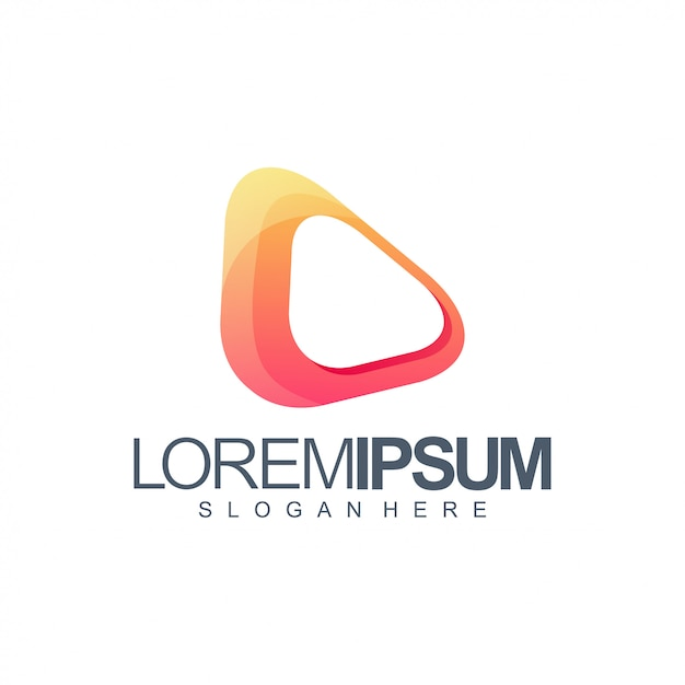 Logo média orange Vecteur Premium