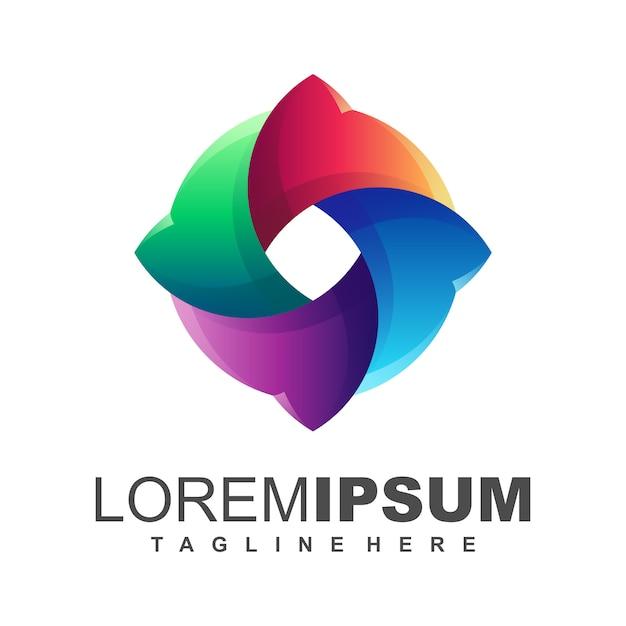Logo média Vecteur Premium