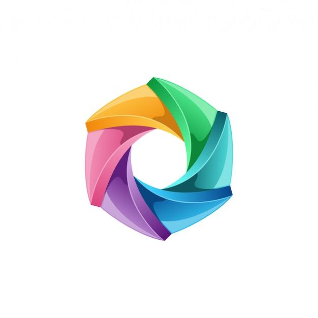 Logo des médias Vecteur Premium