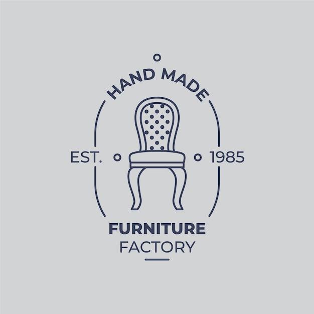 Logo De Meubles Vintage Vecteur gratuit