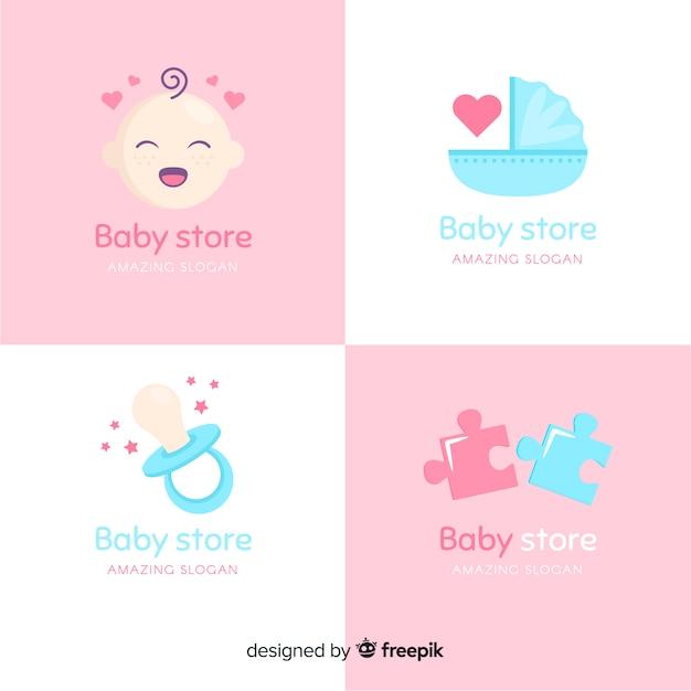 Logo mignon bébé Vecteur gratuit