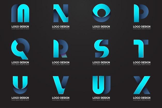 Logo Minimal Moderne Pour La Bannière Vecteur Premium