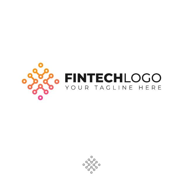 Logo moderne pour la finance Vecteur Premium