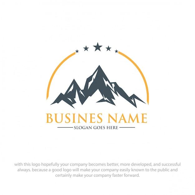 Logo de montagne Vecteur Premium