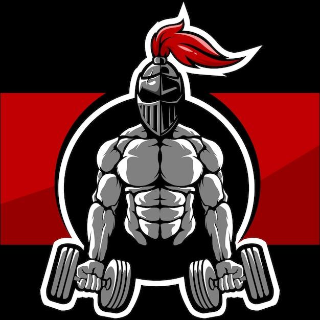 Logo De Musculation Et De Gym Guerrier Vecteur Premium