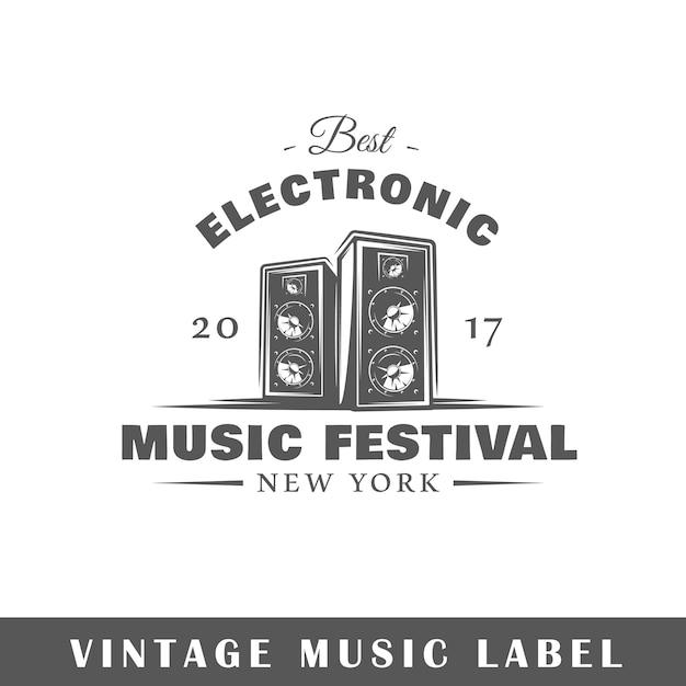 Logo De Musique Isolé Sur Blanc Vecteur Premium