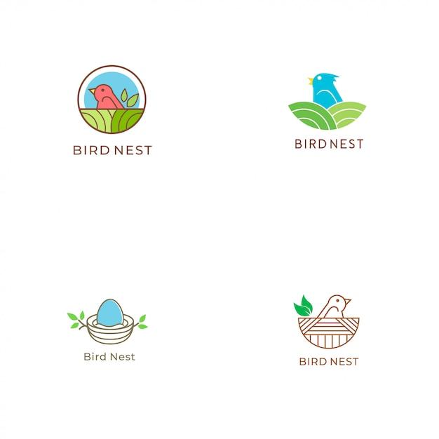 Logo Nest Vecteur Premium