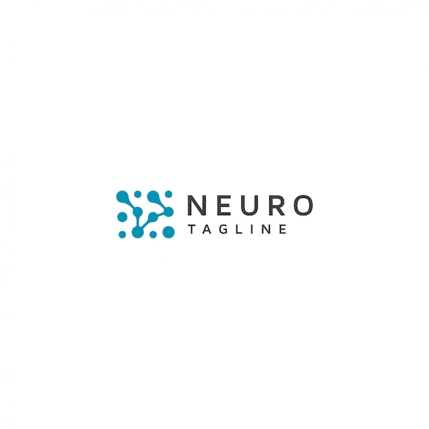 Logo Neuron Avec Slogan Vecteur Premium