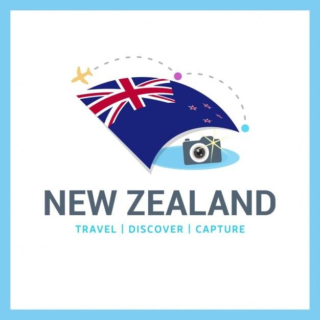 Logo Nouvelle-zélande Voyage Vecteur gratuit