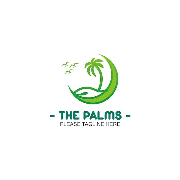 Le logo palms Vecteur Premium