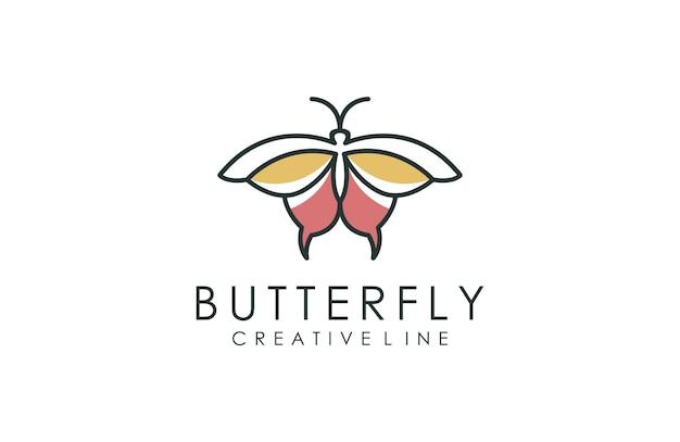 Logo Papillon Minimaliste Vecteur Premium