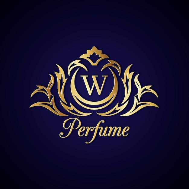 Logo De Parfum élégant Avec Un Design Doré Vecteur gratuit