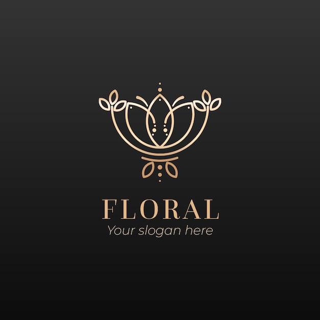 Logo De Parfum Floral De Luxe Vecteur gratuit