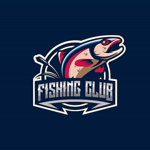 Logo de pêche Vecteur Premium
