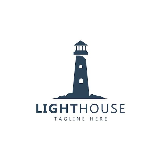 Logo phare Vecteur Premium