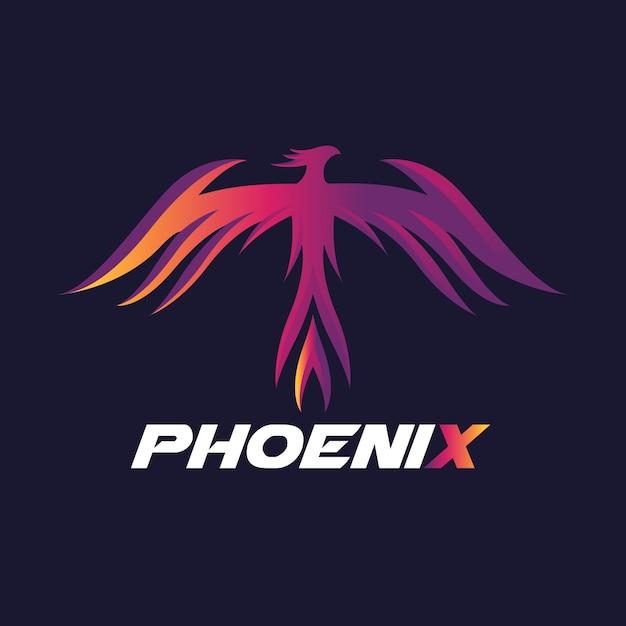 Logo Phoenix, Symbole Du Logo Eagle Et Bird. Modèle De Logo Vectoriel. Vecteur Premium