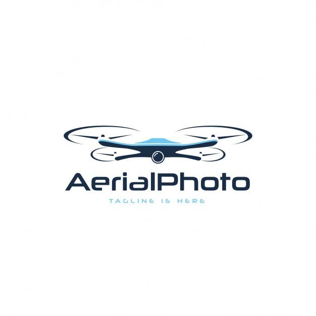 Logo de photographie aérienne Vecteur Premium