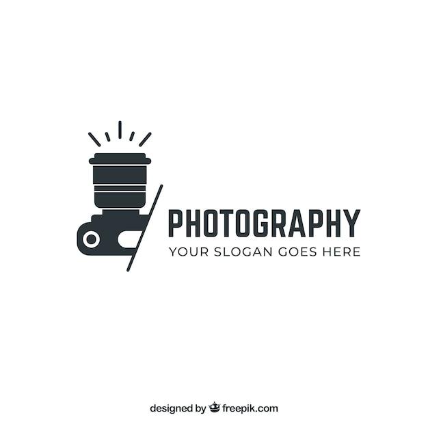 Logo de photographie en couleur noire Vecteur gratuit