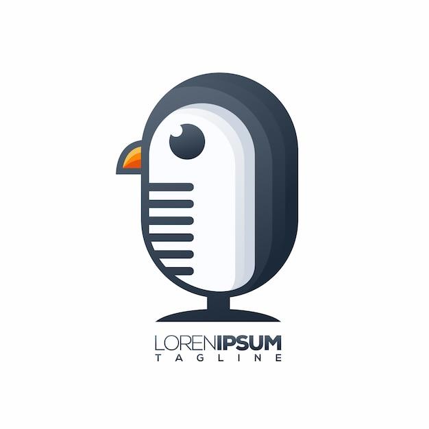 Logo de pingouin Vecteur Premium