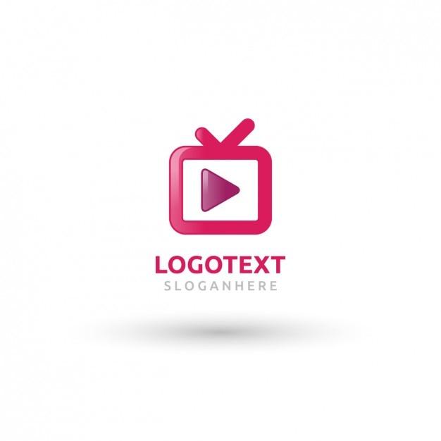 Logo pink tv Vecteur gratuit