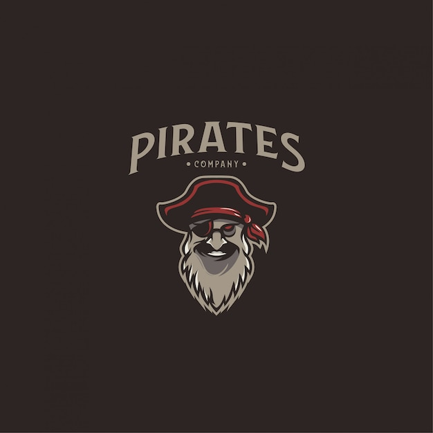 Logo pirates Vecteur Premium