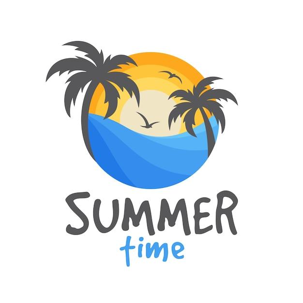 Logo De La Plage D'été | Vecteur Premium