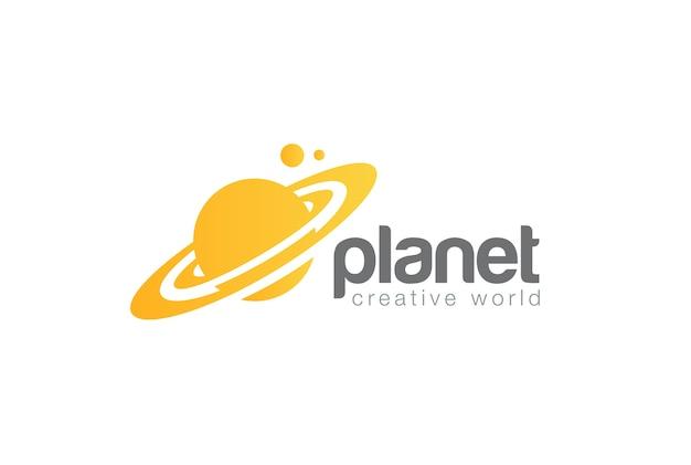 Logo De Planète De Voyage Du Monde. Style D'espace Négatif. Vecteur gratuit