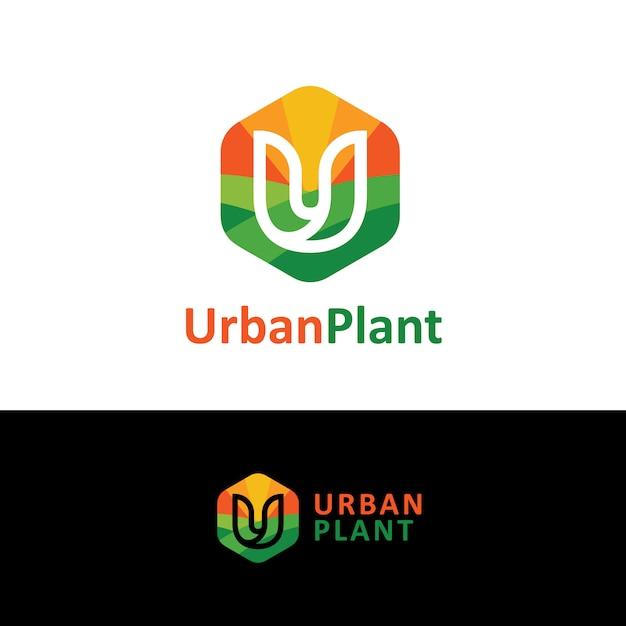 Logo de la plante urbaine Vecteur Premium