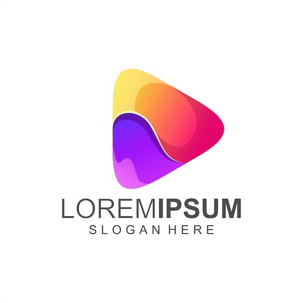 Logo Play Coloré Vecteur Premium