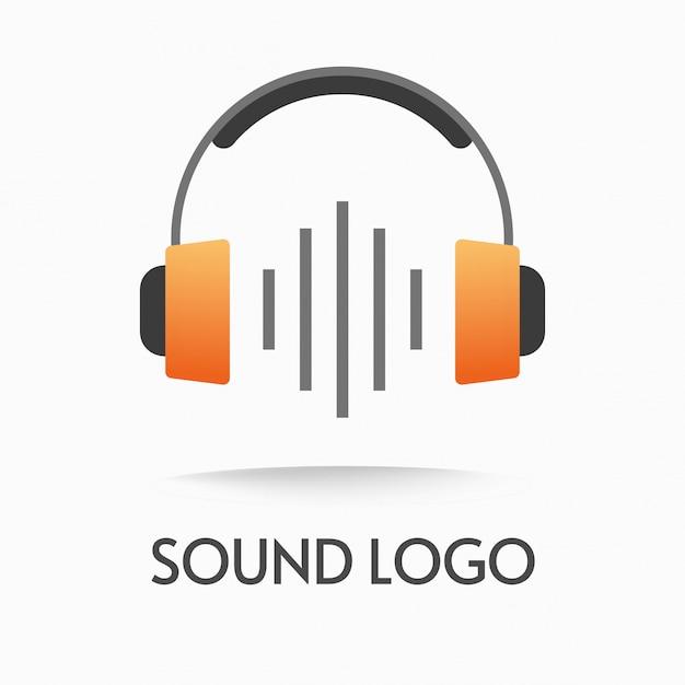 Logo De Podcast Audio Ou Logotype De Musique Et De Son Par Ondes Radio Vecteur Premium