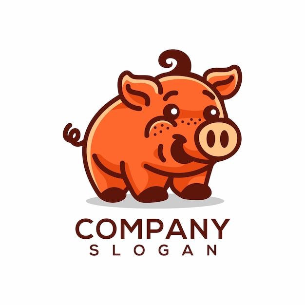 Logo de porc Vecteur Premium