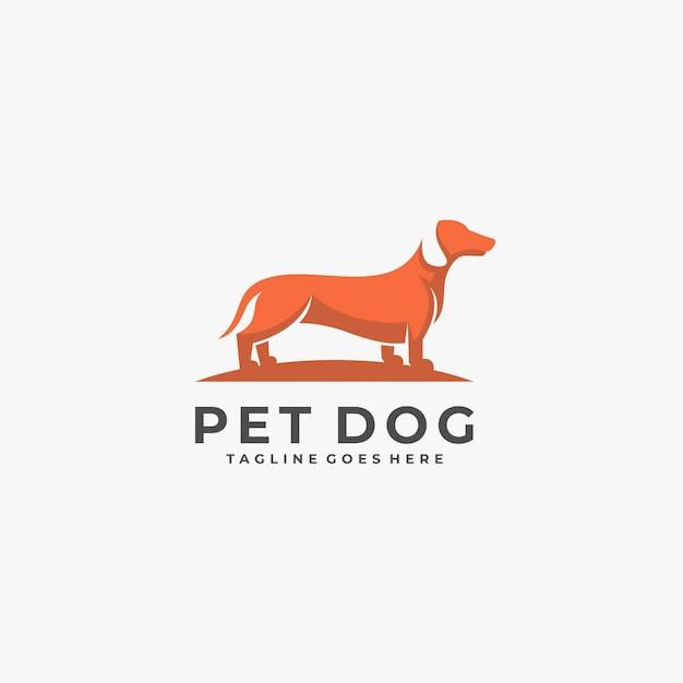 Logo De Position De Chien De Compagnie. Vecteur Premium