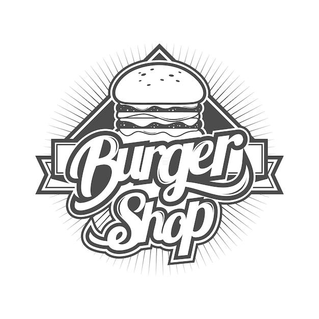 Logo pour burger shop Vecteur Premium