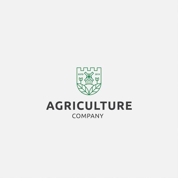 Logo premium avec agriculture Vecteur Premium