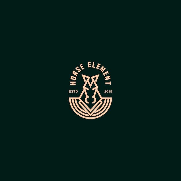 Logo premium avec cheval Vecteur Premium